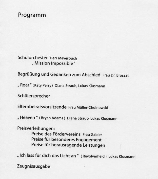 einladung zur abschlussfeier 2014 der zehntklässler | realschule, Einladungsentwurf